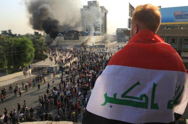 حقوق الإنسان العراقية :ارتفاع عدد القتلى في صفوف المتظاهرين في العراق الي 63 خلال يومين