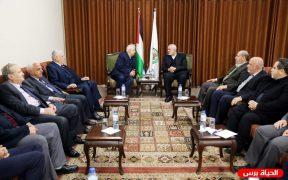 الفصائل بغزة تلتقي حنا ناصر