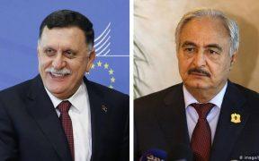 ليبيا : توجه السرّاج وحفتر الي موسكو لتوقيع اتّفاق لوقف إطلاق النار