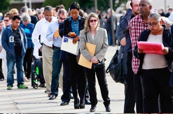 الفجوة في معدلات البطالة بين الأمريكيين من أصل أفريقي والبيض في خمس سنوات