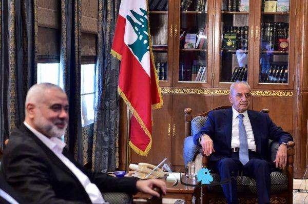 هنية يكشف تفاصيل لقاءه مع رئيس مجلس النواب اللبناني نبيه بري