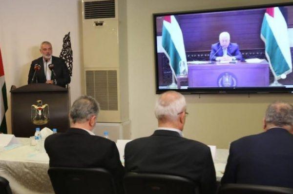 بحضور هنية والنخالة : عباس يترأس إجتماع الأمناء العامين للفصائل الفلسطينية