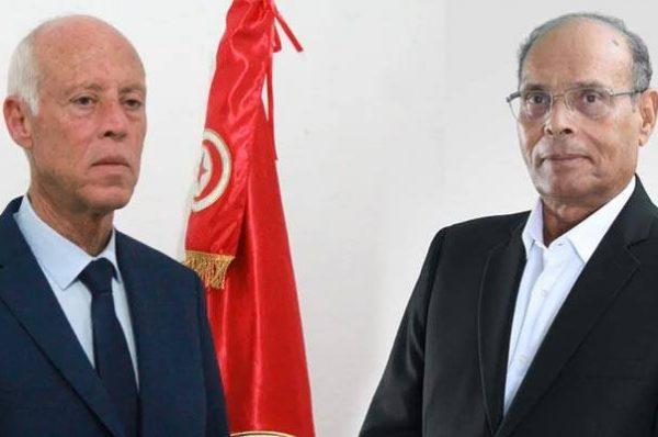 المنصف المرزوقي يوجه انتقادات حادة للرئيس قيس سعيد بسبب زيارته إلى مصر.