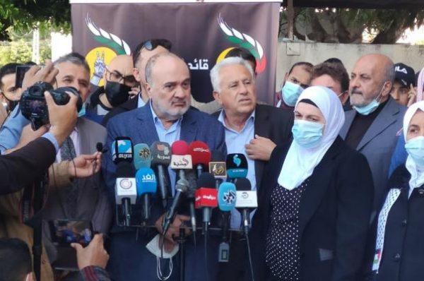 """وصول ناصر القدوة لقطاع غزة للتباحث مع مرشحي قائمة """"الحرية"""" والتحضير للانتخابات"""